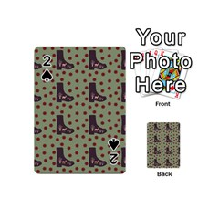 Deer Boots Green Playing Cards 54 (mini)  by snowwhitegirl