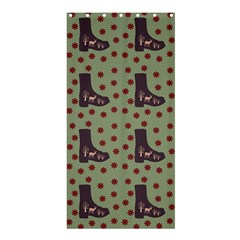 Deer Boots Green Shower Curtain 36  X 72  (stall)  by snowwhitegirl