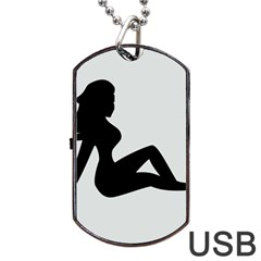 Girls Of Fitness Dog Tag Usb Flash (two Sides) by Mariart
