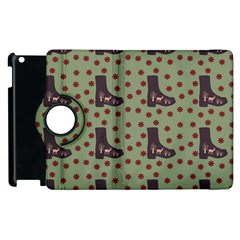 Deer Boots Green Apple Ipad 2 Flip 360 Case by snowwhitegirl