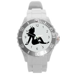 Girls Of Fitness Round Plastic Sport Watch (l)