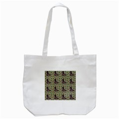 Deer Boots Green Tote Bag (white)