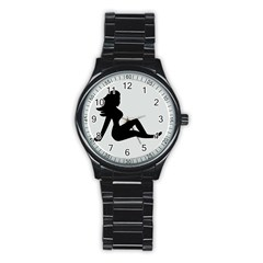 Girls Of Fitness Stainless Steel Round Watch by Mariart