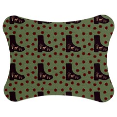 Deer Boots Green Jigsaw Puzzle Photo Stand (bow) by snowwhitegirl