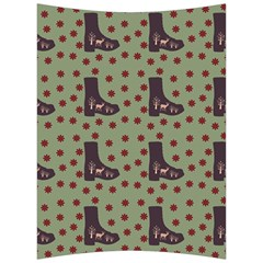 Deer Boots Green Back Support Cushion by snowwhitegirl