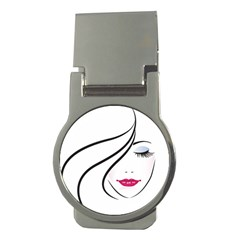 Makeup Face Girl Sweet Money Clips (round)  by Mariart