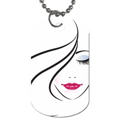 Makeup Face Girl Sweet Dog Tag (one Side) by Mariart