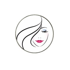 Makeup Face Girl Sweet Hat Clip Ball Marker