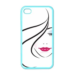 Makeup Face Girl Sweet Apple Iphone 4 Case (color)