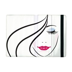 Makeup Face Girl Sweet Ipad Mini 2 Flip Cases by Mariart