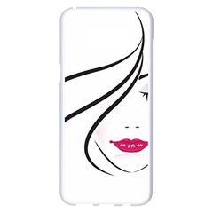 Makeup Face Girl Sweet Samsung Galaxy S8 Plus White Seamless Case by Mariart