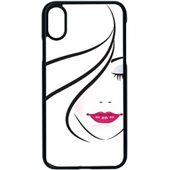 Makeup Face Girl Sweet Apple Iphone X Seamless Case (black) by Mariart