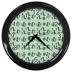 Green Boots Wall Clocks (black) by snowwhitegirl