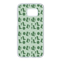 Green Boots Samsung Galaxy S7 Edge White Seamless Case by snowwhitegirl