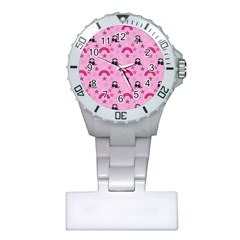 Music Stars Rose Pink Plastic Nurses Watch by snowwhitegirl