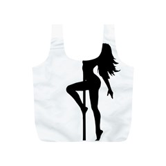 Dance Silhouette Pole Dancing Girl Full Print Recycle Bags (s)