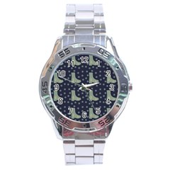 Blue Boots Stainless Steel Analogue Watch by snowwhitegirl