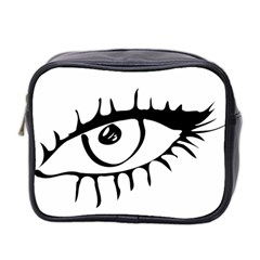 Drawn Eye Transparent Monster Big Mini Toiletries Bag 2 Side