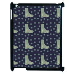 Blue Boots Apple Ipad 2 Case (black) by snowwhitegirl