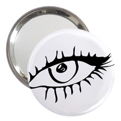 Drawn Eye Transparent Monster Big 3  Handbag Mirrors