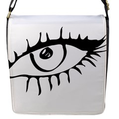 Drawn Eye Transparent Monster Big Flap Messenger Bag (s) by Alisyart