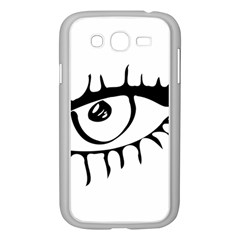 Drawn Eye Transparent Monster Big Samsung Galaxy Grand Duos I9082 Case (white)