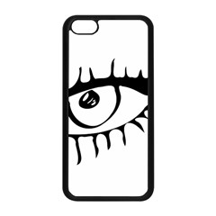 Drawn Eye Transparent Monster Big Apple Iphone 5c Seamless Case (black) by Alisyart