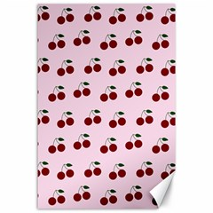 Pink Cherries Canvas 24  X 36  by snowwhitegirl