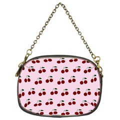 Pink Cherries Chain Purses (two Sides)