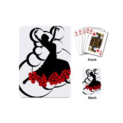 Flamenco Dancer Playing Cards (mini)  by AnjaniArt