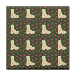 Green Boot Tile Coasters