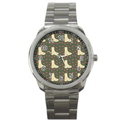Green Boot Sport Metal Watch by snowwhitegirl