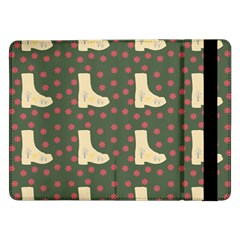 Green Boot Samsung Galaxy Tab Pro 12 2  Flip Case by snowwhitegirl