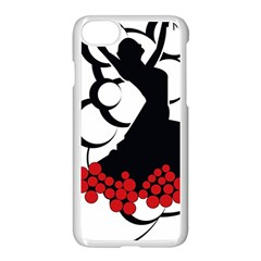 Flamenco Dancer Apple Iphone 8 Seamless Case (white)