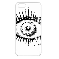 Big Eye Monster Apple Iphone 5 Seamless Case (white)