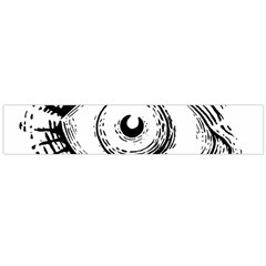 Big Eye Monster Large Flano Scarf  by AnjaniArt