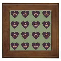 Cupcake Green Framed Tiles by snowwhitegirl