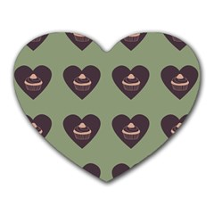 Cupcake Green Heart Mousepads