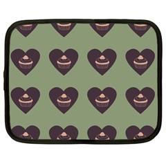 Cupcake Green Netbook Case (large) by snowwhitegirl