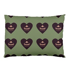 Cupcake Green Pillow Case by snowwhitegirl