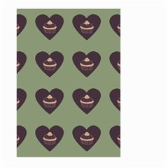 Cupcake Green Large Garden Flag (two Sides)