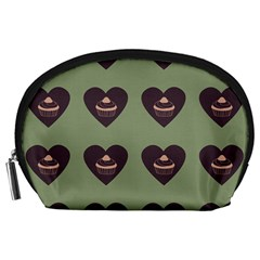 Cupcake Green Accessory Pouches (large)  by snowwhitegirl
