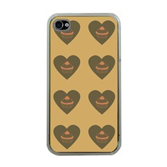 Cupcake Pumpkin Orange Grey Apple Iphone 4 Case (clear) by snowwhitegirl
