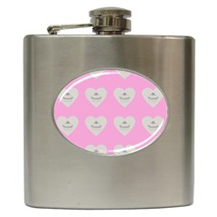 Cupcake Pink Grey Hip Flask (6 Oz) by snowwhitegirl