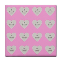 Cupcake Pink Grey Face Towel by snowwhitegirl