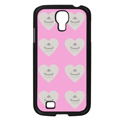 Cupcake Pink Grey Samsung Galaxy S4 I9500/ I9505 Case (black) by snowwhitegirl