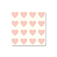 Cupcake White Pink Square Magnet by snowwhitegirl