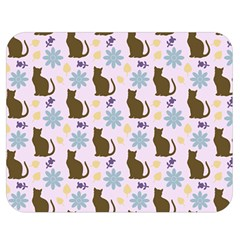 Outside Brown Cats Double Sided Flano Blanket (medium)  by snowwhitegirl