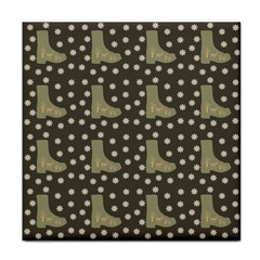 Charcoal Boots Tile Coasters by snowwhitegirl