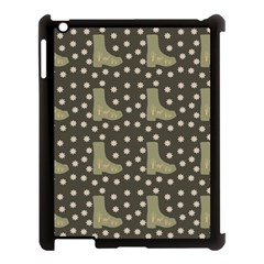 Charcoal Boots Apple Ipad 3/4 Case (black) by snowwhitegirl